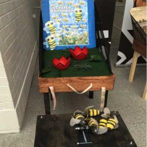 aktivitets låda roliga lekar aktiviteter ihopfällbara spel flygande bin luftlandet paintballtorpet örjansfiske