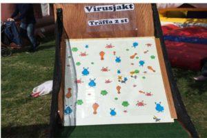 aktivitets låda roliga lekar aktiviteter ihopfällbara spel virus luftlandet paintballtorpet örjansfiske